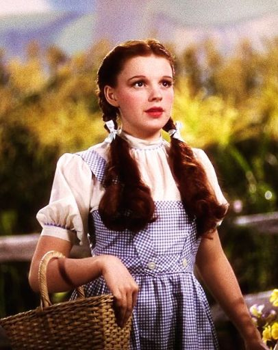 "1939 Plaid Pattern on Judy Garland in 1939 ""The Wizard of Oz"""