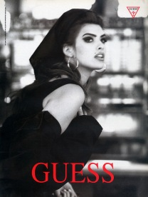 90's top model -Letitia Costafor Guess